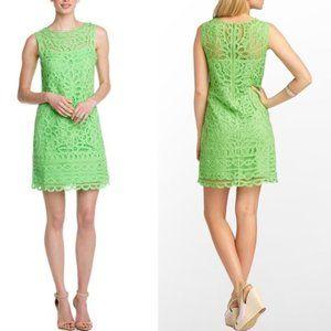 Lilly Pulitzer Tabitha Green Lace Shift Dress - M